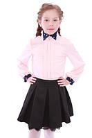 Школьная юбка для девочки Арина Размеры 122 - 152 Черный цвет
