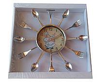 Настенные часы Quartz ложки вилки(32*32см)