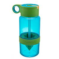 Детская бутылочка для напитков KidZinger (голубая)