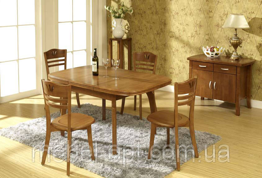 СтолОбеденный раздвижной малайзия, WT218, чайный цвет. Мебель для маленькой кухни