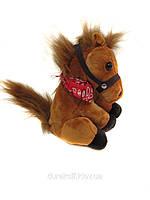 Танцующая музыкальная лошадка 2014 коричневая