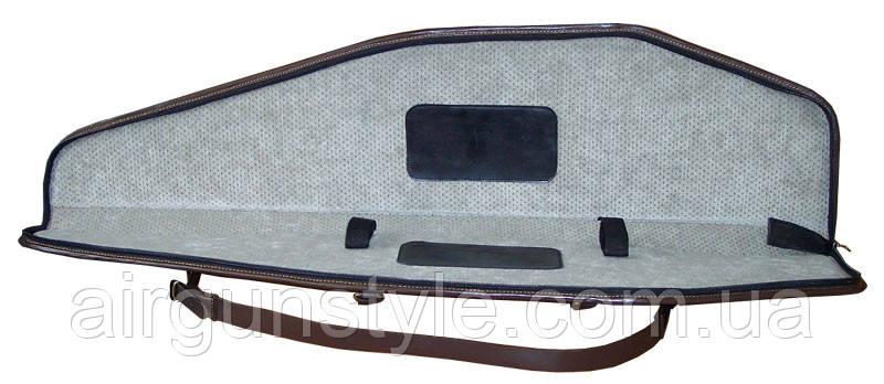Чехол  кожаный  для оружия с оптикой Медан 2104 (120см)