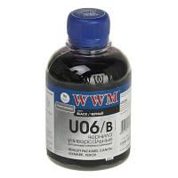 Чернила WWM для Canon/HP/Lexmark 200г Black Водорастворимые (U06/B) универсальные