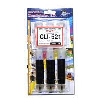 Заправочный набор WWM для Canon CLI-521 (3 x 20мл) Водорастворимые Black (IR3.C11/B)