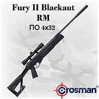 Crosman Fury II Blackout RM пневматическая винтовка с оптикой 4х32