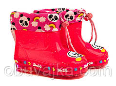 Обувь для непогоды Детские силиконовые сапоги с подсветкой от фирмы BBT(28-32)