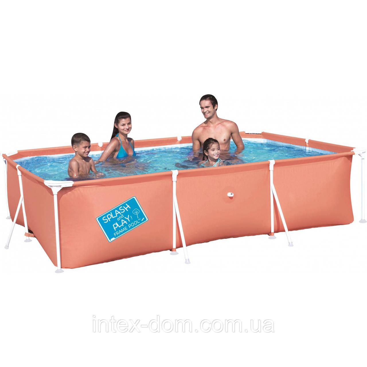 Детский каркасный бассейн Bestway 56222 B (Голубой), размер 300 х 201 х 66 см