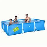Детский каркасный бассейн Bestway 56222 B (Голубой), размер 300 х 201 х 66 см, фото 3