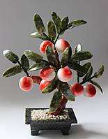 Персиковое дерево-символ здоровья и долголетия(нефрит и змееви,8пл.)