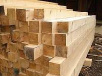 Брус строительный сосновый деревянный 50х50, L = 2,0 м цена, купить, куб, сухой