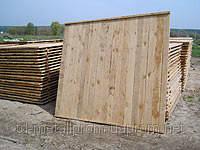 Деревянный щит изгороди 2,0х2,0м, разные размеры, выгодная цена, купить