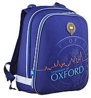 Рюкзак 1 Вересня YES H-12 Oxford 553369 синий каркасный молодежный один отдел 38см х 29см х 15см