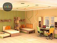 Модульная мебель Snite Комплект молодежной мебели Line: красочные линии на двоих