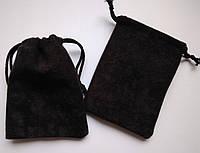 Мешочки ювелирные, бархат матовый черный 5х7 см, 1шт. Производство Украина
