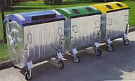 Контейнер металевий для роздільного збору ТПВ, євро стандарт