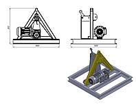 Деревовстряхиватель работающий от мотор-редуктора или от трактора