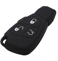 Чехол для ключа автомобиля Mercedes 3 кнопки с логотипом