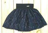 Юбка  на девочку темно синяя на  рост 116 см, 122 см, 128 см, 134 см