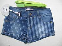 Джинсовые шорты для девочек, размеры 8 лет, арт. FD-6509