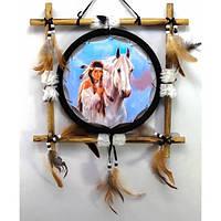 Панно для декора Девушка с конем