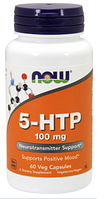 5-ХТП Гидрокситриптофан, Now Foods, 5-HTP, 100 mg, 60 Caps