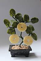 Денежное дерево-символ богатства (нефрит и змеевик)