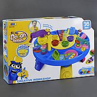 Детский столик для творчества из пластилина 34 деталей