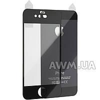 Защитное стекло iPhone 4s на обе стороны глянец (черный)