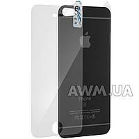 Защитное стекло iPhone 5s на обе стороны под ориг. матовый (черный)