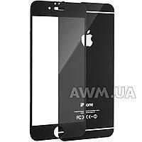Защитное стекло iPhone 6 на обе стороны глянец (черный)