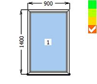 Окно ECOSOL-DESIGN 60, глухое, 900х1300, стеклопакет энергосберегающий 32 мм (4-10ar-4-10-4i )