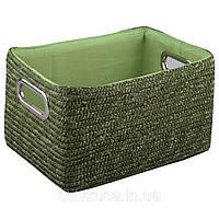 Корзина плетеная зеленого цвета, фото 1