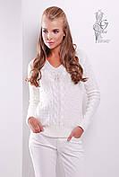Красивые женские свитера Цветана из шерстяной нити