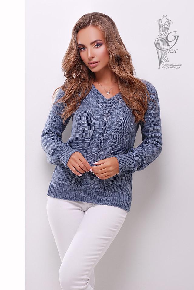 Цвет Джинс Красивых женских свитеров Цветана-9