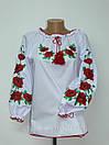 Вышиванка с маками для девочки, фото 2