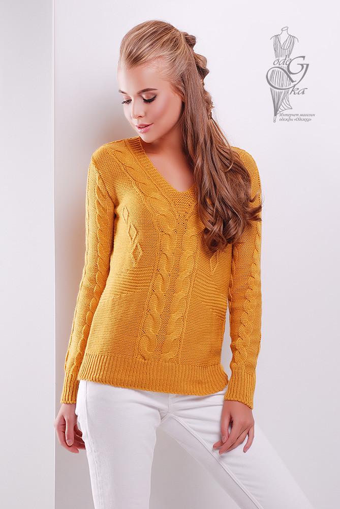 Красивые женские свитера Цветана-3 из шерстяной нити