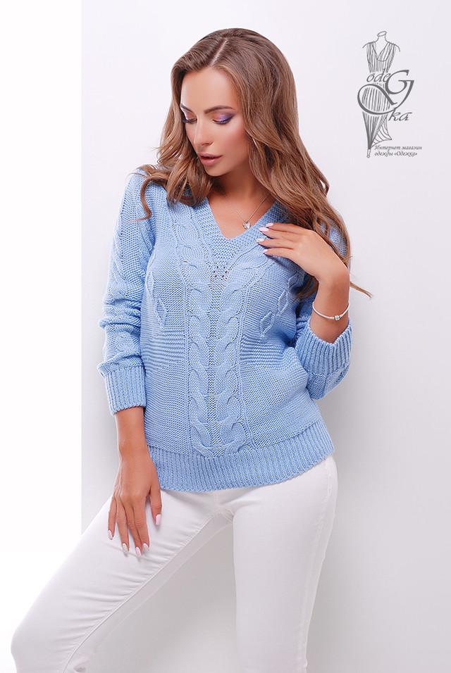 Голубой цвет Красивых женских свитеров Цветана-9