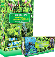 Удобрение НОВОФЕРТ  «Хвойные и вечнозелёные: весна-лето» 250г