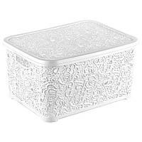 Ящик для хранения с крышкой белый маленький