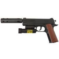 Пистолет пневматический с ЛЦУ Crosman 1911ТАС (4.5мм), фото 2
