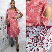 Платье (50, 52, 54, 56) — марлевка купить оптом и в Розницу в одессе  7км