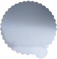 Подложка под торт Ø 300мм утолщенный 2ух сторон (зол/сер) (1уп =10шт), кухонная посуда