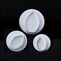 8618 плунжеры листья Розы 3 шт., кондитерские принадлежности