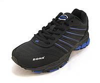 Кроссовки Bona кожаные черные унисекс(бона)(р.36,37,38,39,41)
