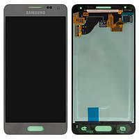 Дисплей (экран) для Samsung G850F Galaxy Alpha + с сенсором (тачскрином) серебристый Оригинал