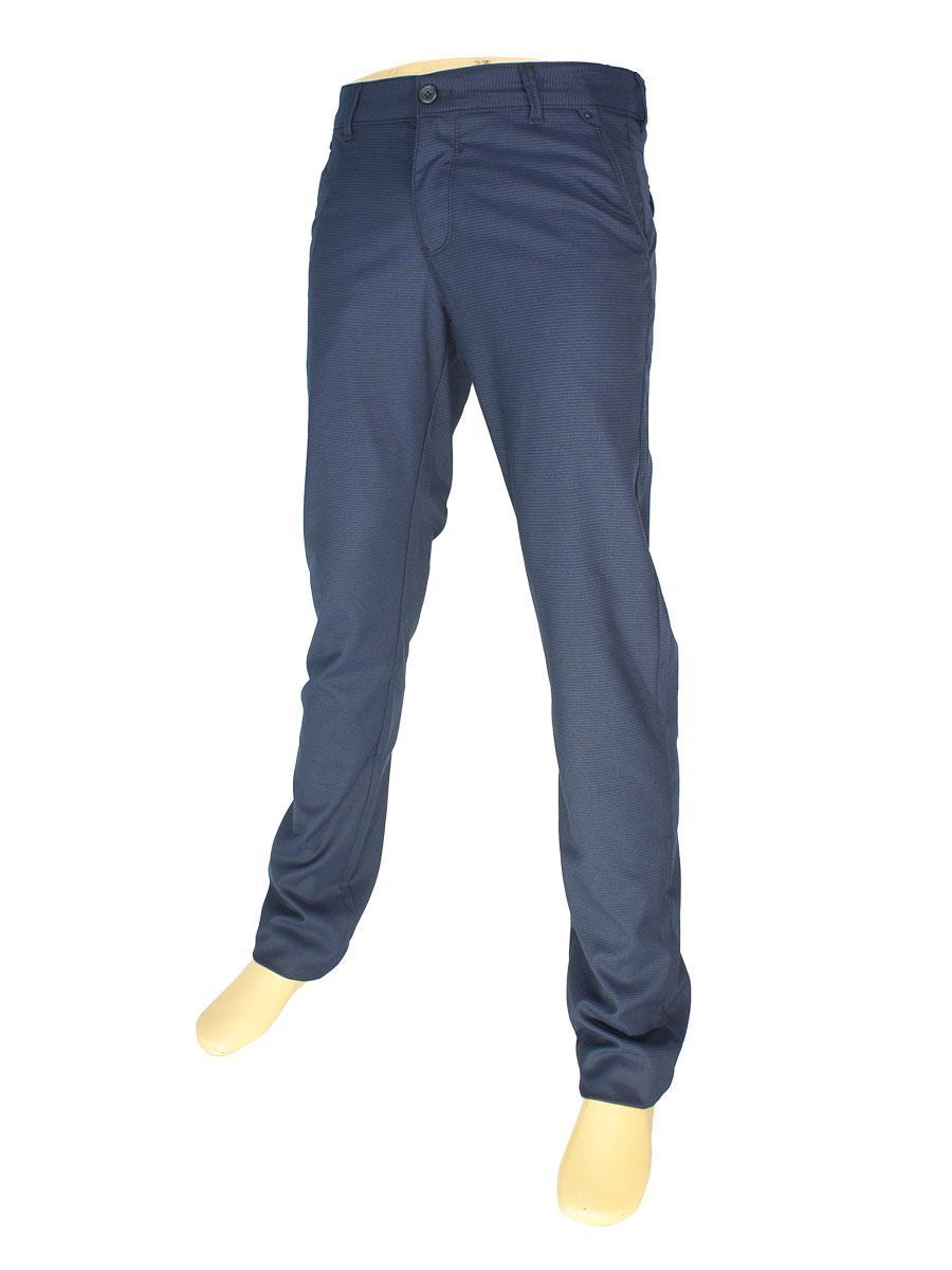 Стильные мужские брючные джинсы NAX 170-5153 темно-синего цвета