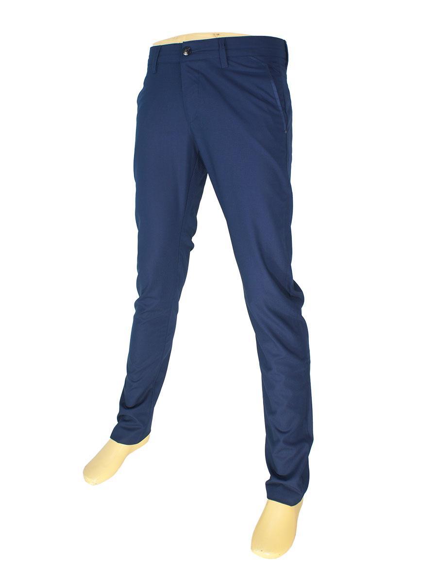 Брючные мужские джинсы X-Foot 170-3098 темно-синего цвета