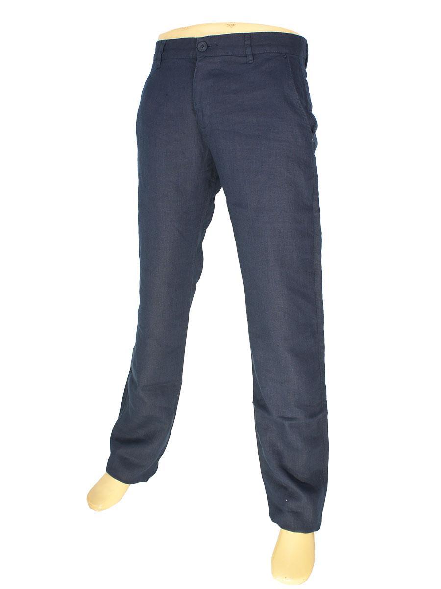 Чоловічі лляні джинси Cen-cor CNC-3033 Laci темно-синього кольору