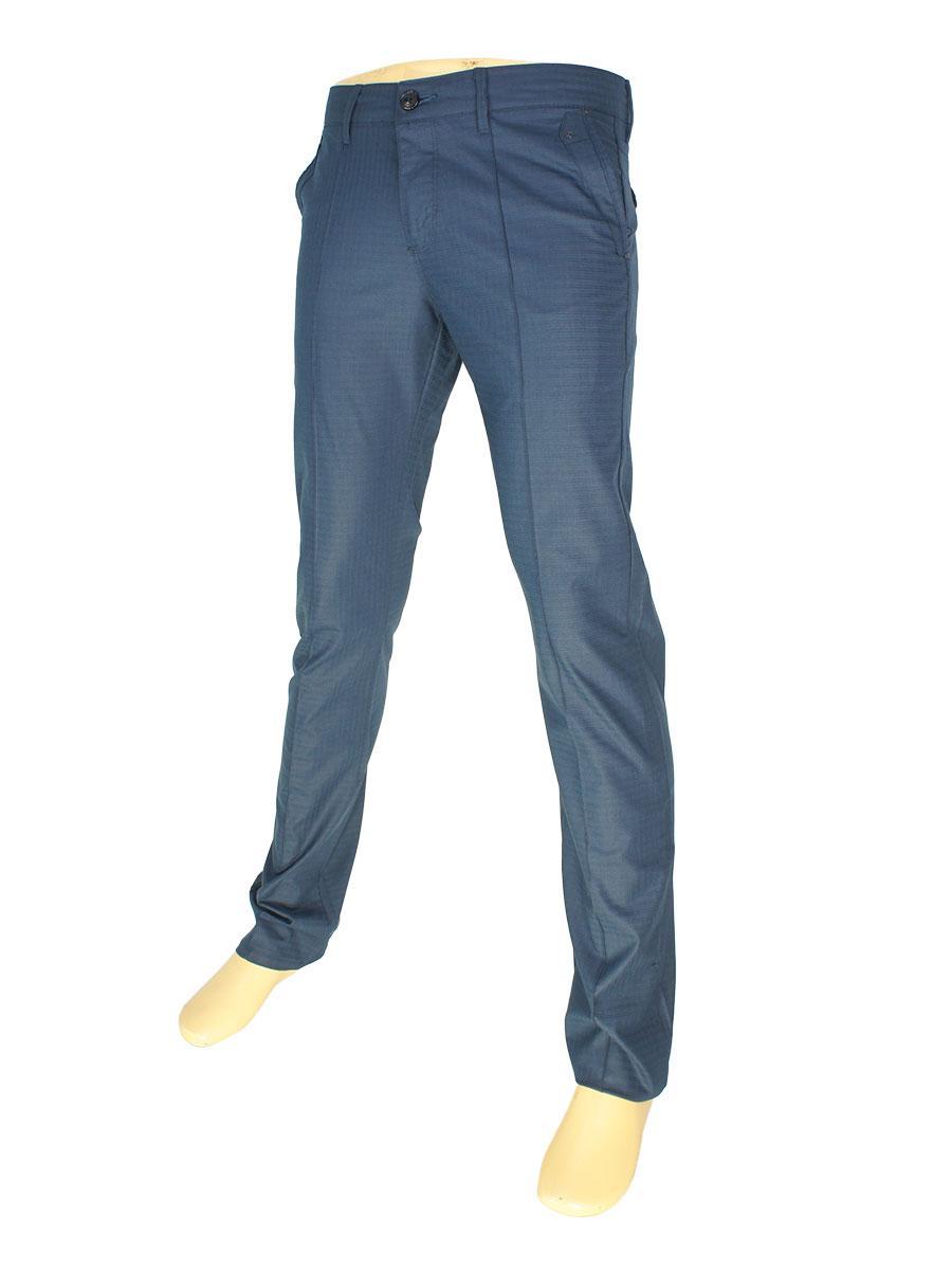 Мужские брючные джинсы X-Foot 170-3043 синего цвета