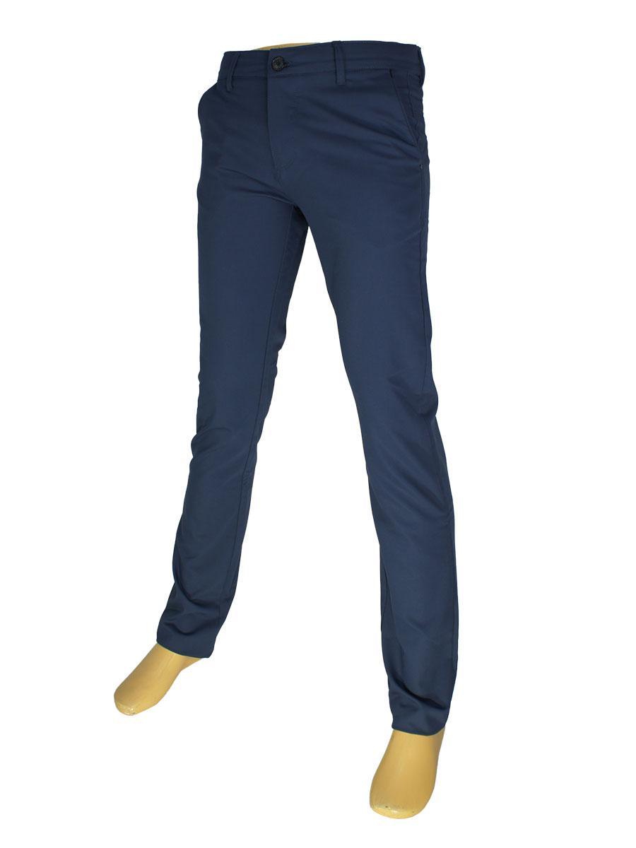 Стильные мужские джинсы X-Foot 170-3190 темно-синего цвета